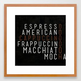 Coffee 03 Framed Art Print