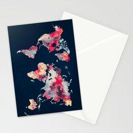 world map 69 Stationery Cards