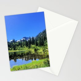 Day in the mountains - Mt. Baker - Washington Stationery Cards