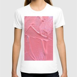 Pink Paint Texture Painting T-shirt