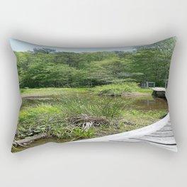 Swampy Path Rectangular Pillow