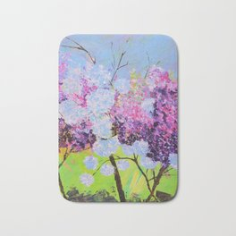 lilac painted Bath Mat