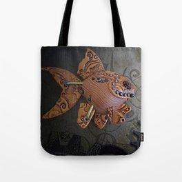 Steampunk Goldfish Tote Bag