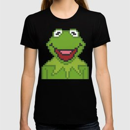 Kermit The Muppets Pixel Character T-shirt