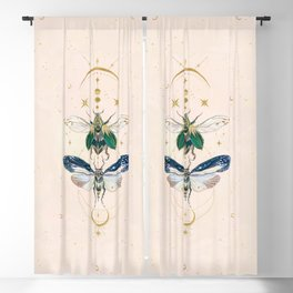 Moon insects Blackout Curtain