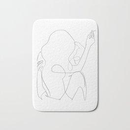 minimal line art - kiss Bath Mat