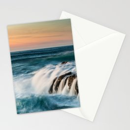 Cape Perpetua Ocean Waterfall Sunset Stationery Cards