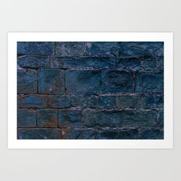 Middle evo wall made with blocks of stone. Art Print