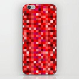 Red Pixel iPhone Skin