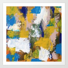 Abstract Expression #11 by Michael Moffa Art Print