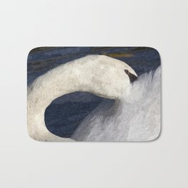 The Shy Swan Art Bath Mat