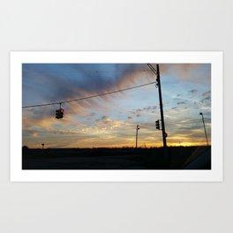 Twilight Over Michigan Art Print