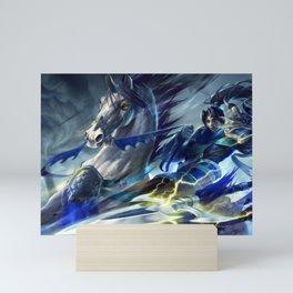 Warring Kingdoms Xin Zhao League of Legends Mini Art Print