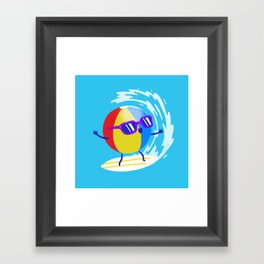 Lets Surf The Ocean Together! Framed Art Print