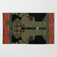pacific rim Area & Throw Rugs featuring Pacific Rim - Cherno Alpha - Minimal Poster by John Takacs