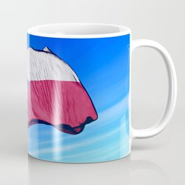 Czech Republic flag waving on the wind Mug