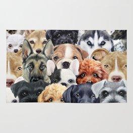 Dog All start, original illustration by miart Rug