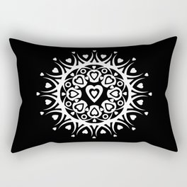 White hearts (black background) Rectangular Pillow
