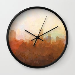 Newark, New Jersey Skyline - In the Clouds Wall Clock
