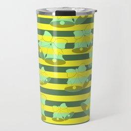 Christmas bells and stripes Travel Mug