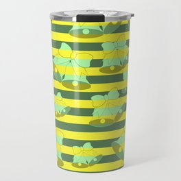 Christmas bells and stripes Travel Mug