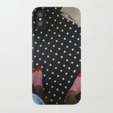 red stripes iPhone X Slim Case