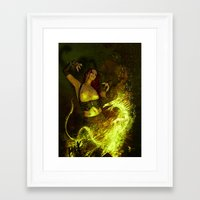 witchcraft Framed Art Prints featuring Witchcraft by Pinturero