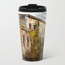 Somewhere in Rhode Island - Abandoned Mill 001  Metal Travel Mug