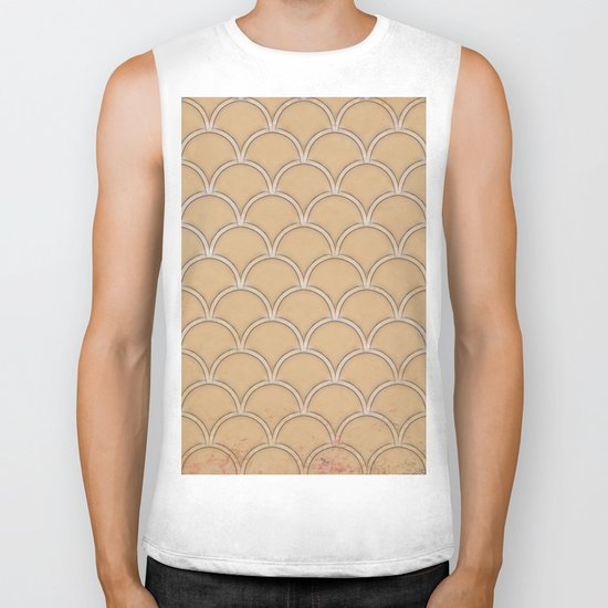 Abstract large scallops in iced coffee with texture Biker Tank