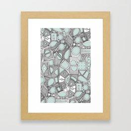 RAZZ BW ICE Framed Art Print