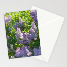 Summer lilac nature pattern Stationery Cards