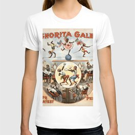 Signorita Galetti and her performing monkeys vintage poster T-shirt