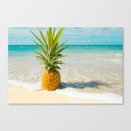 Pineapple Beach Canvas Print