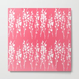 Azalea Pink Pussywillows Metal Print