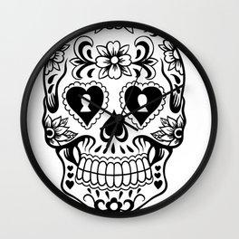 Sugar Skull Art, Sugar Skulls Wall Clock