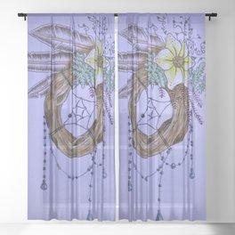 Watercolor Dreamcatcher Sheer Curtain