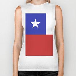 Chile flag emblem Biker Tank