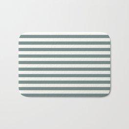 Blue Green Stripes Bath Mat