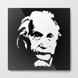 Portrait of Albert the Genius Metal Print