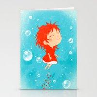 ponyo Stationery Cards featuring Ponyo by Peerro