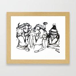 iPhone girl Framed Art Print