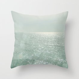 The Silver Sea Throw Pillow