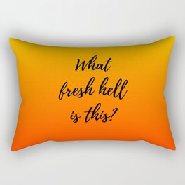 What Fresh Hell Is This? - red orange Rectangular Pillow