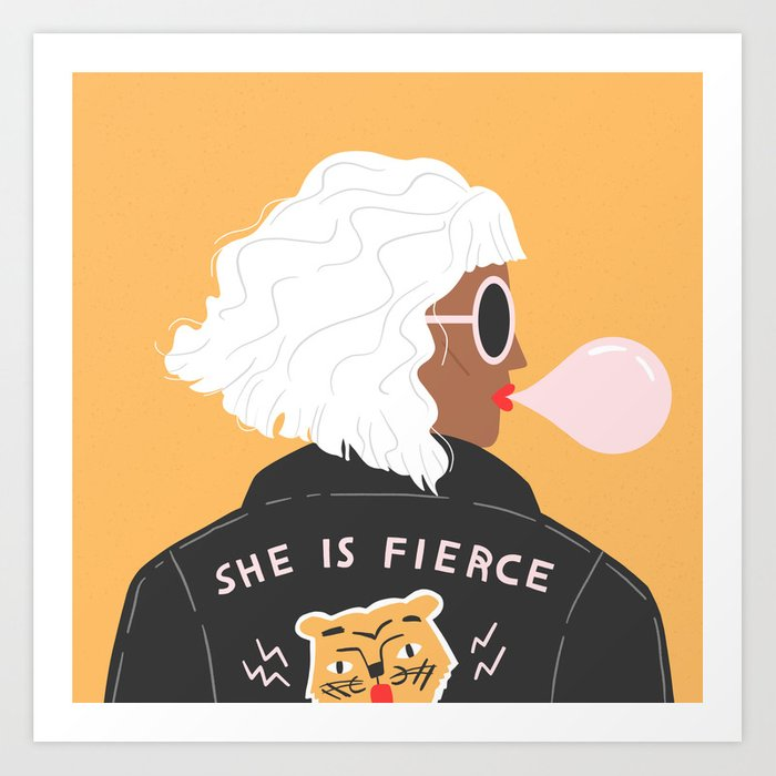 she is fierce art print