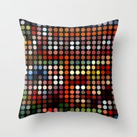 comic Throw Pillows featuring Comic by Triplea