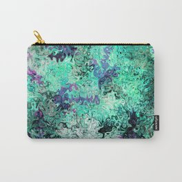 So Undecided, Abstract Art Swirls Pattern Carry-All Pouch