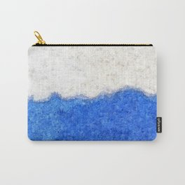 Blue Sky White Cloud Abstract Carry-All Pouch