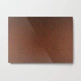 Football / Basketball Leather Texture Skin Metal Print