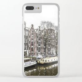 Amsterdam in the Winter Clear iPhone Case
