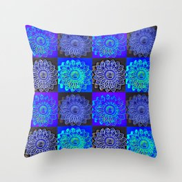 Many Blue Stars Throw Pillow